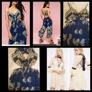 Blue romper free people small